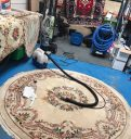 Rug cleaning in the workshop
