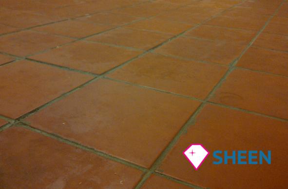 Quarry Tile Floor Cleaning Restoration Gloucestershire Sheen