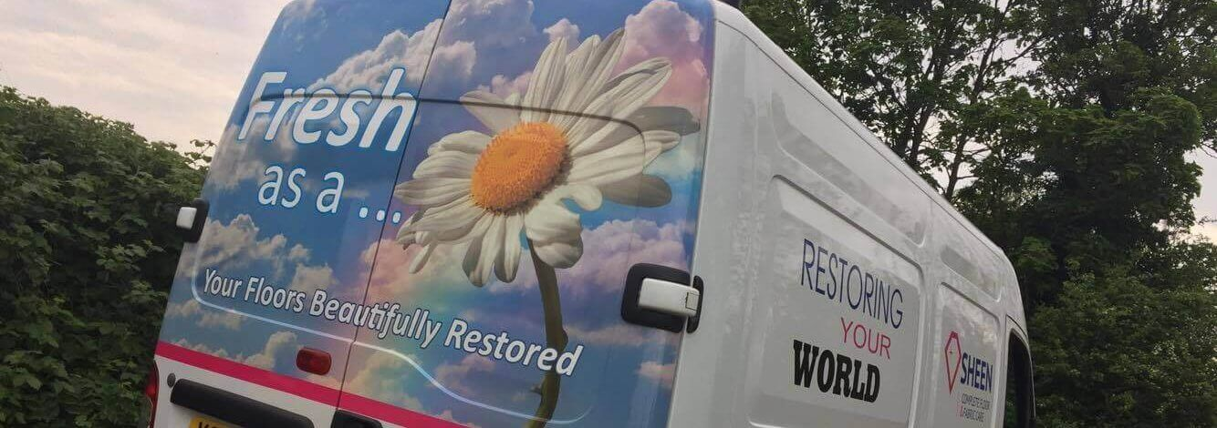 'Fresh as a daisy' Van sign writting
