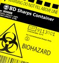 Yellow lid Medical Waste sharps bin
